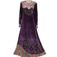 Nieuwe Islamitische kleding voor vrouwen groothandel plus size moslim jurk abaya in dubai kaftan maxi moslim Abaya 95C8006