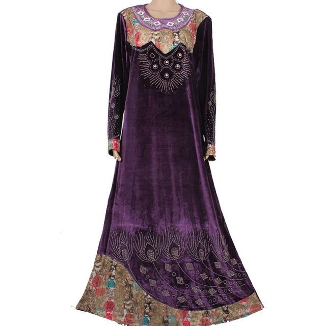 Nueva ropa Islámica para las mujeres al por mayor más el tamaño vestido de los musulmanes abaya en dubai kaftan Abaya musulmán maxi 95C8006
