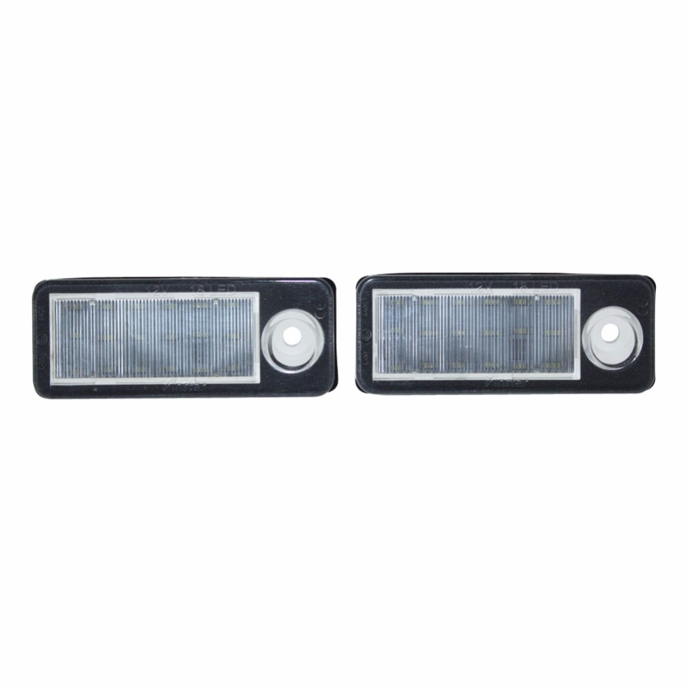 2x Canbus Error free 18SMD LED License Plate Light Car Accessories Number Plate Lamp for Audi A6 C6 B Avant Wagon 98-05 18 smd 2x no error car styling led license plate light for kia ceed cerato forte auto rear number plate lamp replacement