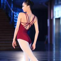 Backless Sleeveless Spandex Cotton Ballet Leotards For Women Ballet Dancewear Adult Dance Practice Clothes Gymnastics Leotards