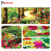 Huacan Special Shaped Diamond Embroidery Mosaic Forest 5D Diamond Painting Cross Stitch Scenic Wall Decoration Holiday