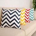 2015 New Ripple Chevron Zig Wave Linen Cotton Cushion Cover Home Decor Throw Pillow Case  58XL