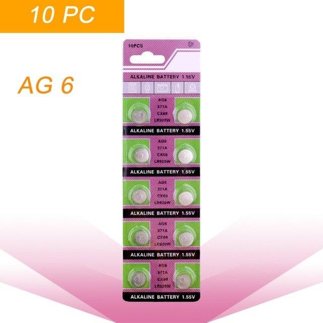 3195aaf3fe4 Big Promoção Para assista Botão Bateria ag6 371 d371 605 sr69 sr920sw  alcalina botão bateria plana