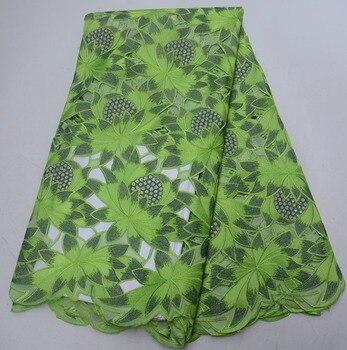 New Nigerian hand-cut lace fabric, African organic fabric fashion French mesh fabric 5 yards