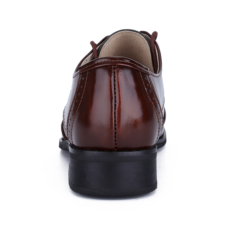 Pour Main Derbies Appartements Cuir Color La Up En Véritable Femmes Plat Color Britannique Oxford À Chaussures Lace Femme 2 Causalité Brush tBwf0qf