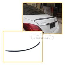 C63 Style Spoiler for Mercedes W205 Carbon Fiber Rear Trunk Spoiler wing C200 C300 C180 4 Doors Sedan Car 2014 UP