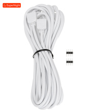 Extension Cable with Adapter 5M 4 Pin Connecting Line Connector Wire for SMD 5050 3528 Flexible RGB LED Strip Lights Lamp Band 1 100 meters 2pin 3pin 4pin 5pin extension wire led cable connector for 5050 3528 ws2812b led stirp light