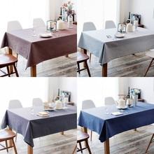 Крышка стола прямоугольная скатерть элегантное украшение для дома однотонная кухонная домашняя столовая грязеотталкивающая скатерть