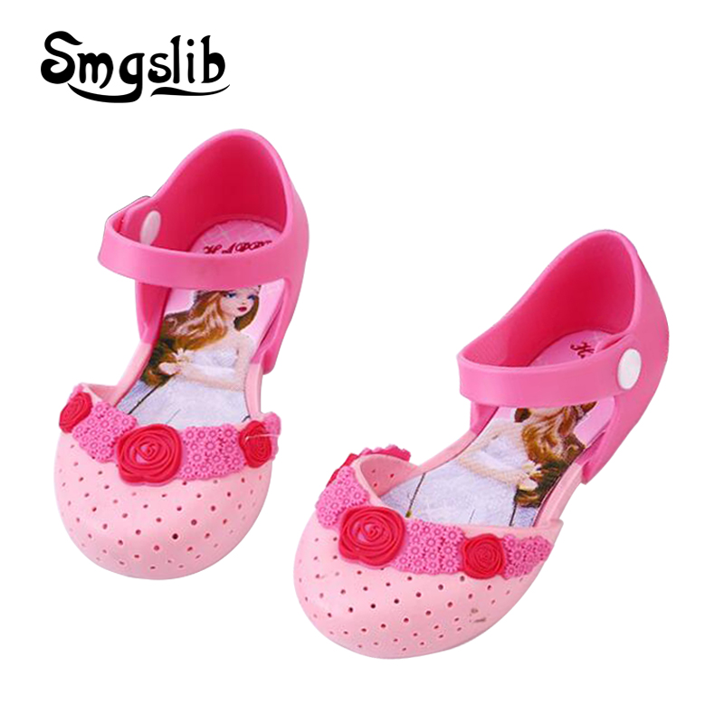 Girls Shoes Kids Sandals Princess Party Dress Shoes Cartoon Pattern Sandalia Infant Kids Summer Children Soft Bottom Sandals in Sandals from Mother Kids