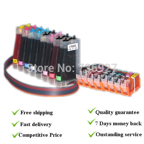 with Auto reset chips, FULL CISS For canon Pro9000 CISS , For CLI8 BK C M Y PC PM R G Series 8 Color cartridgs empty ciss for canon pgi 650 bk cli 651 kcmyg ciss for canon pixma mg6360