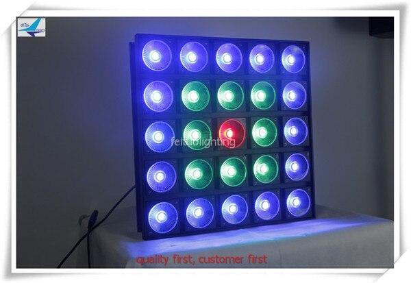 free shipping 8pcs/lot Stage Bar Blinder Light 25X30W Led Matrix RGB 3IN1 COB Lights DXM 5x5 Built-in Panel Quad DJ Disco Wash
