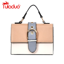 Women's Designer Handbag 2019 Fashion New High quality PU Leather Women bag Contrast Lady Tote Shoulder Messenger Bag Crossbody цена 2017
