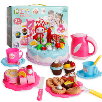 38-86 Uds DIY juego De frutas cortar pastel De cumpleaños Cocina alimentos...