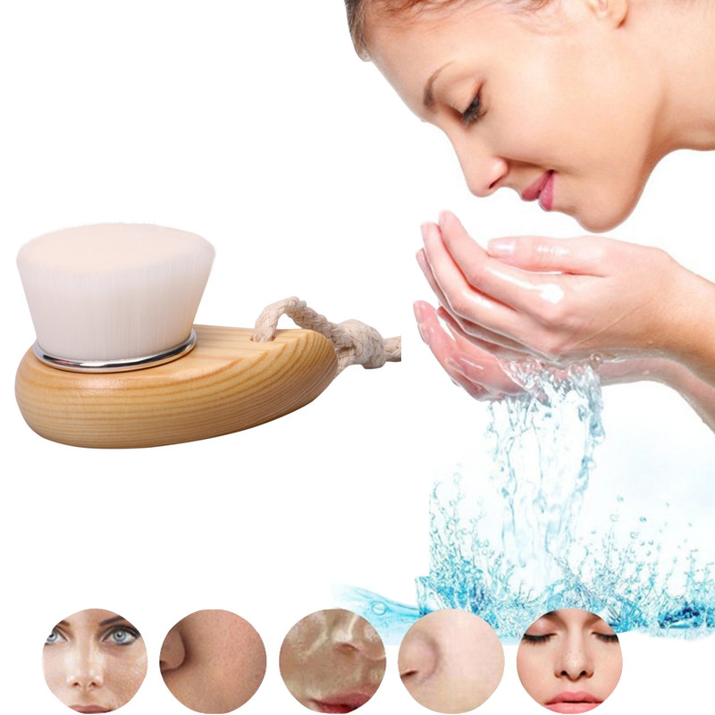 Face Clean Brush Wash Deep Cleansing Soft Fiber Mild Massager Facial Care Skin Pore