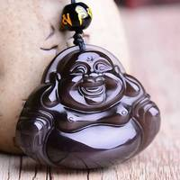 Natural Ice Kind Of Obsidian Of The Free Buddha Pendant Men And Women S Jewelry Pendant