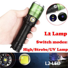 Cycling Bicycle Front Head Flashlight XML L2 LED 5000LM Light Scuba Diving Underwater 500M Waterproof Torch Bike Accessories