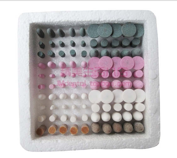 100PCS Assorted Dental Gravel thick Mounted Point Burs Stone Polisher 2.35mm