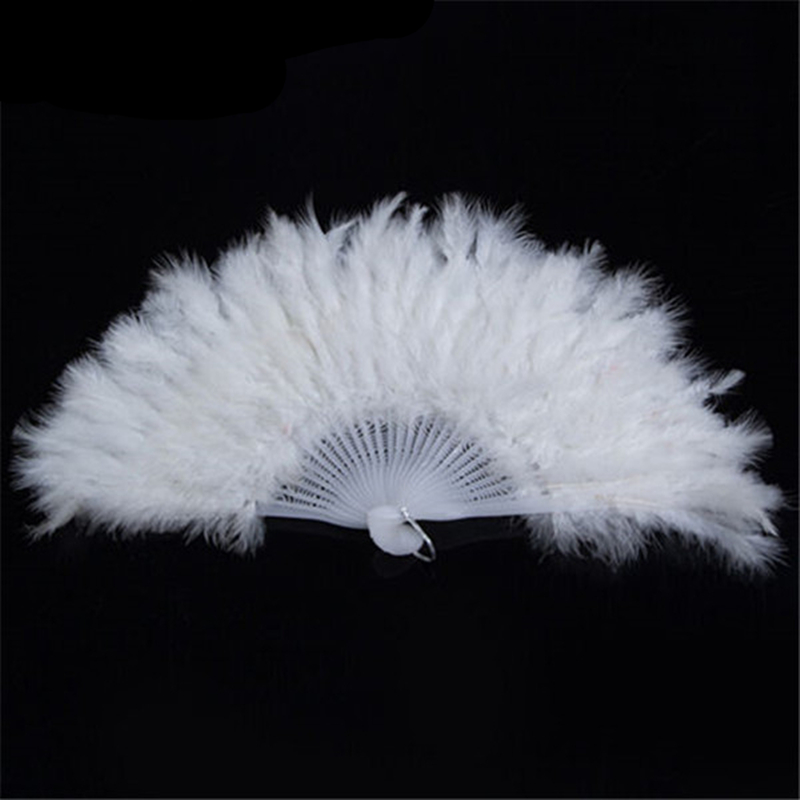 Hot Sale Spain Leques Ladies Folding Feather Hand Fans,Wholesale Personalized Bamboo Fan Of Old Wedding Decoration Dance 10