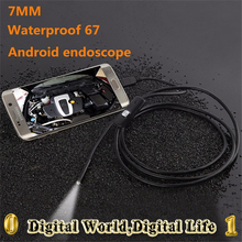 Micro Android phone USB mini endoscope camera 7mm Dia 1/1.5/2/3.5/5m Length IP67 waterproof 720P 6 LED Android phone endoscope