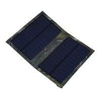 Portátil Nuevo Powerbank Banco de la Energía Solar 3 W Plegable Portátil Celular Cargador del Panel Solar del USB Para El Iphone para los teléfonos móviles