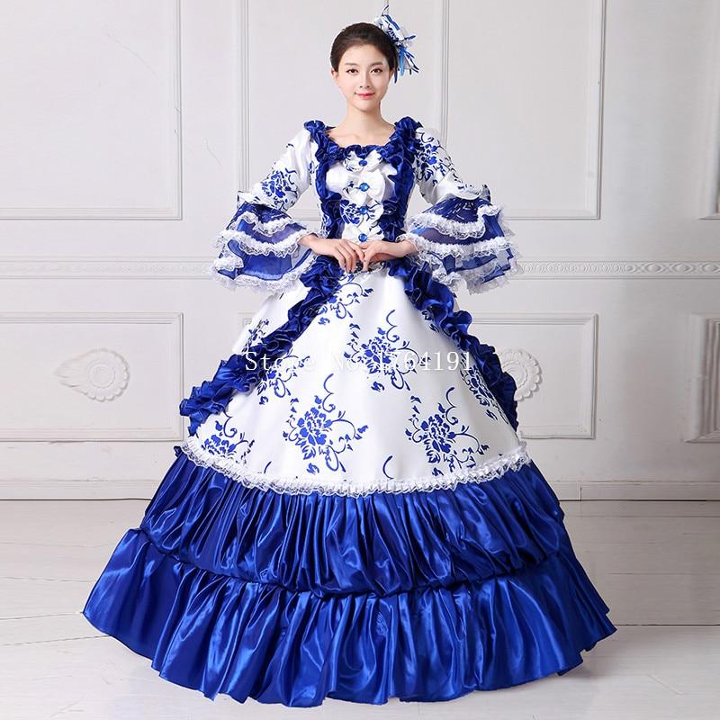 Длинные платья 18 века