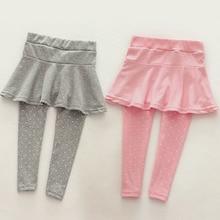 Cozy-Pants Culotte Skirt Kids Legging Children Trousers Wool Toddler Girl Autumn Winter