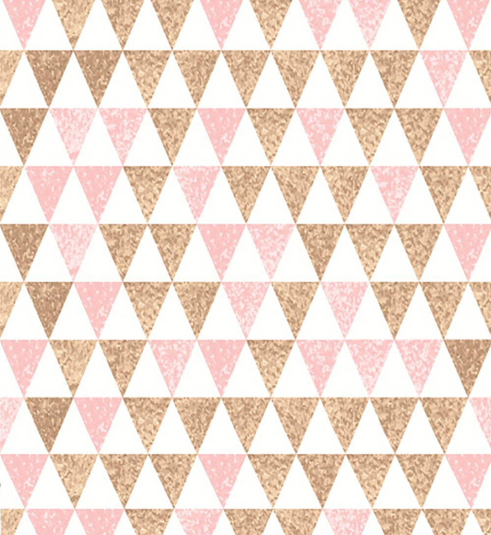 Pink And Gold Glitter Triangle Backgrounds Vinyl cloth