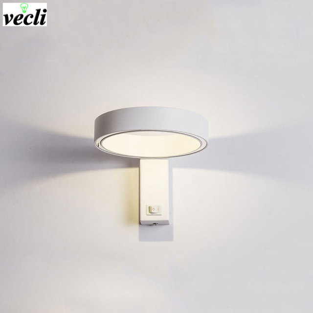 Modern Simplicity Led Wall Lamps Bedroom Bedside Lamp Reading Aisle Sconce Corridor Light Direction Adjule Ac 90 260v