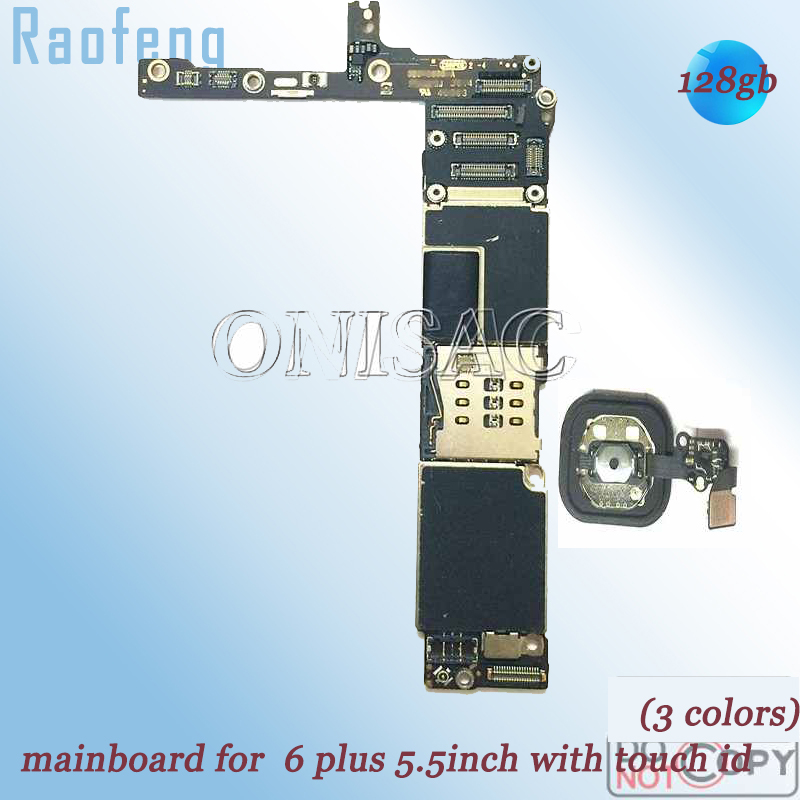 Raofeng Mainboard iPhone with Touch-Id Disassembled for 6-plus/Motherboard/5.5inch/Unlocked