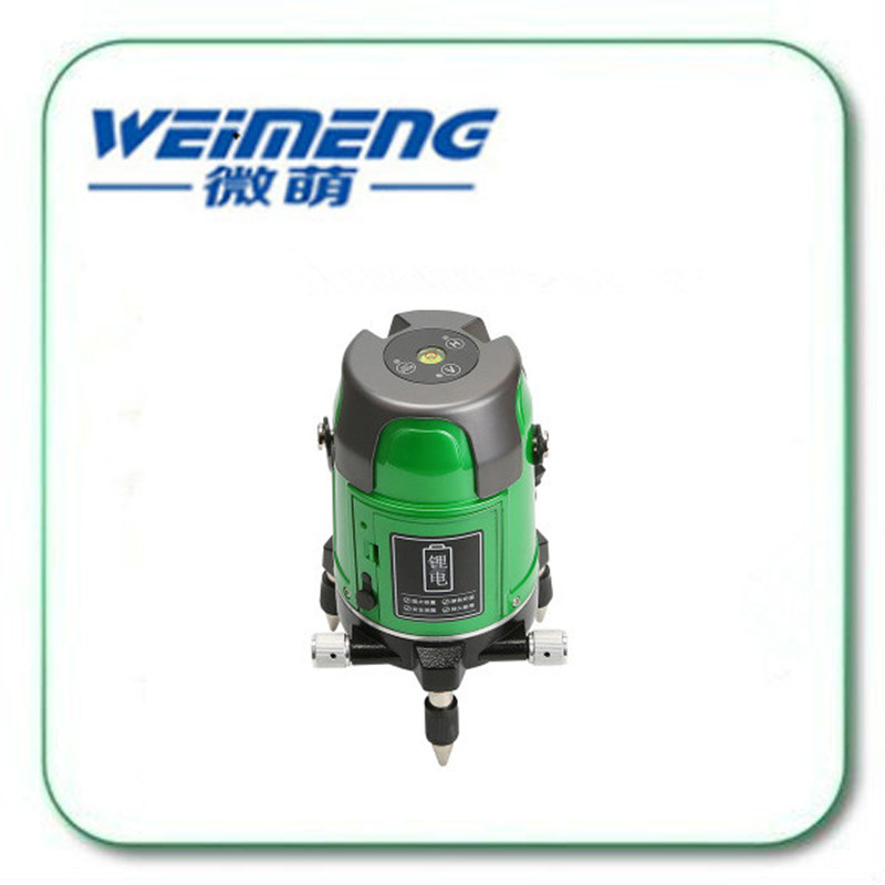 Weimeng brand green light laser level 2 lines 360 degrees 532nm professional anti falling strong light laser level gauge snow falling on cedars level 6