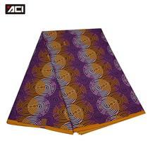 ACI Wholesale Super Daviva Fabrics Tissu Ankara African Wax Print Fabric 6 Yards/Piece London Wax Batik African Fabric Patchwork