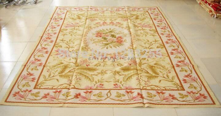 Les tapis à aiguilles brodés à l'aiguille Fine entièrement florale de chine sont des tapis à tricoter en laine tissés à la main