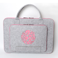11 13 14 15 17 Zipper Wool Felt Laptop Bag Briefcase For Macbook Lenovo Dell HP
