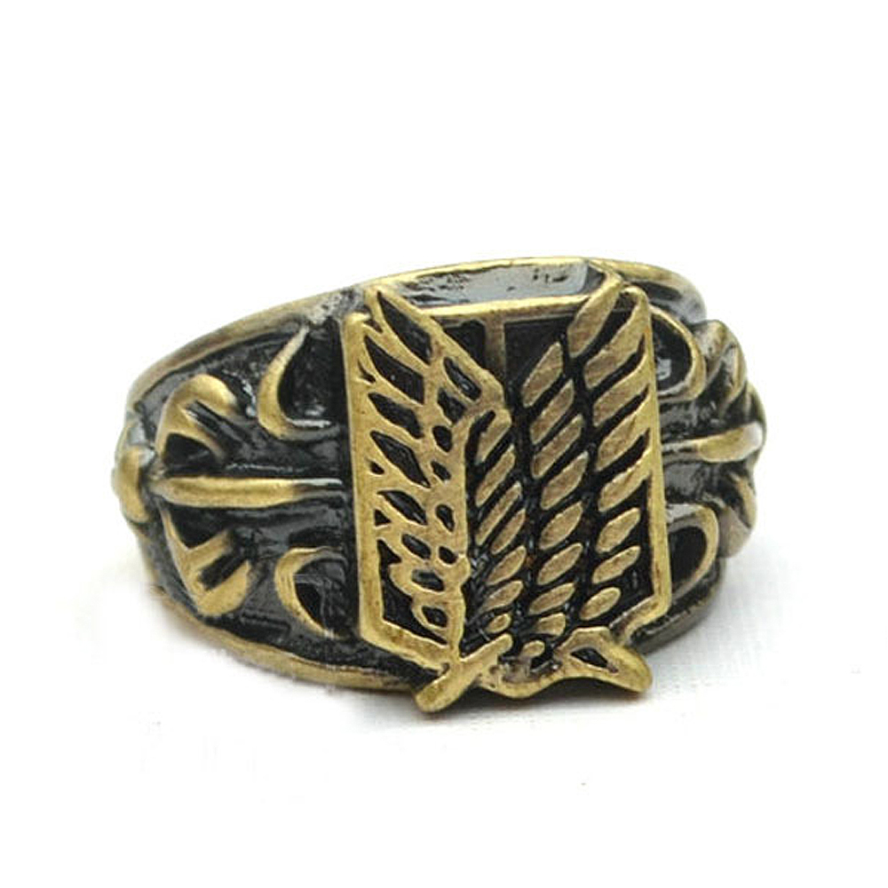 Hot Anime Attack on Titan Scouting Legion Survey Corps Ring Cosplay Prop Gift