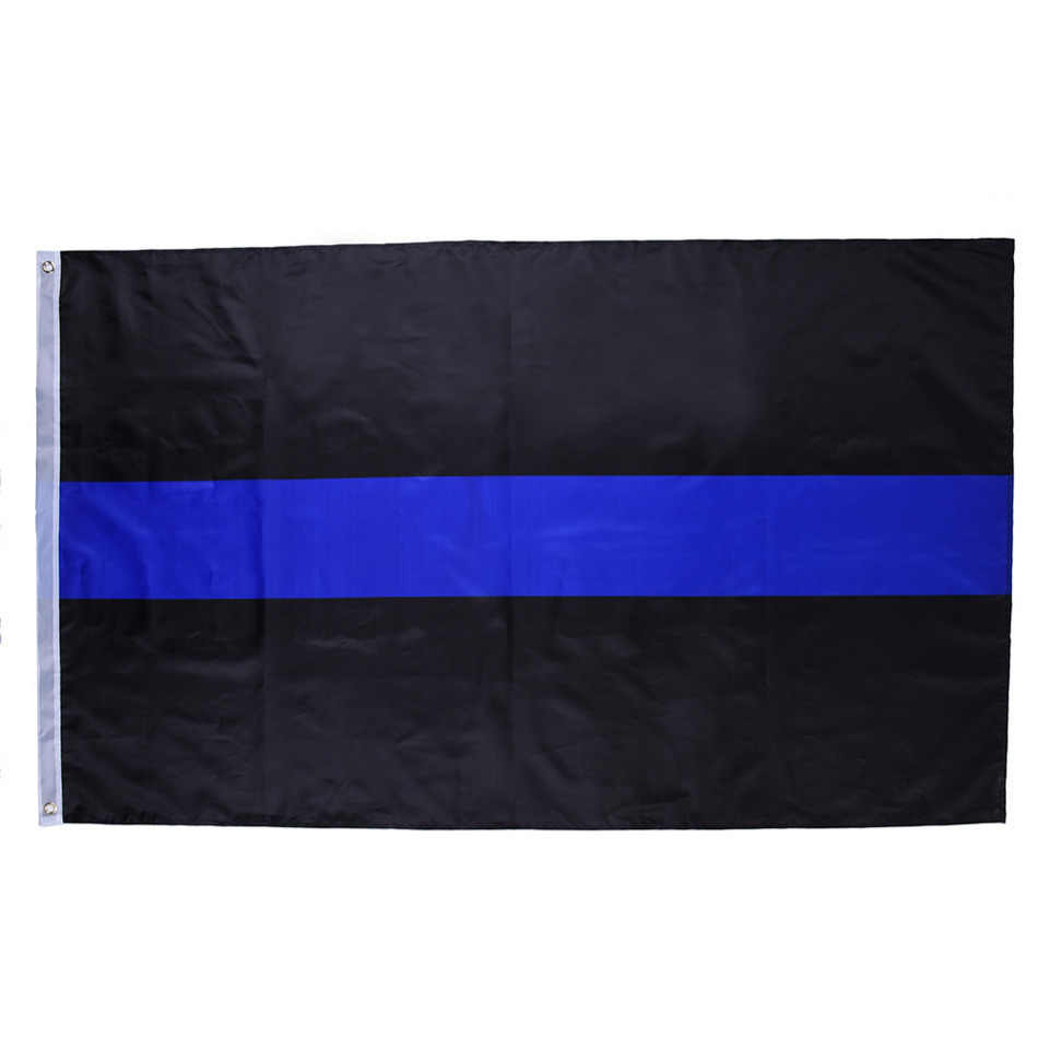 1pcs 2017 New 90*150cm Flag BlueLine USA Police Flag American Thin Blue and Black Striped Flag Banner