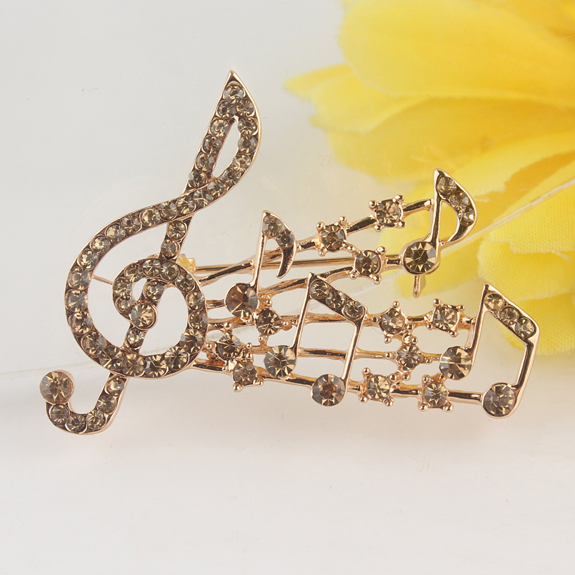 GPElegant Crystal Brooch Musical Notes and Treble Clef 770 (3)