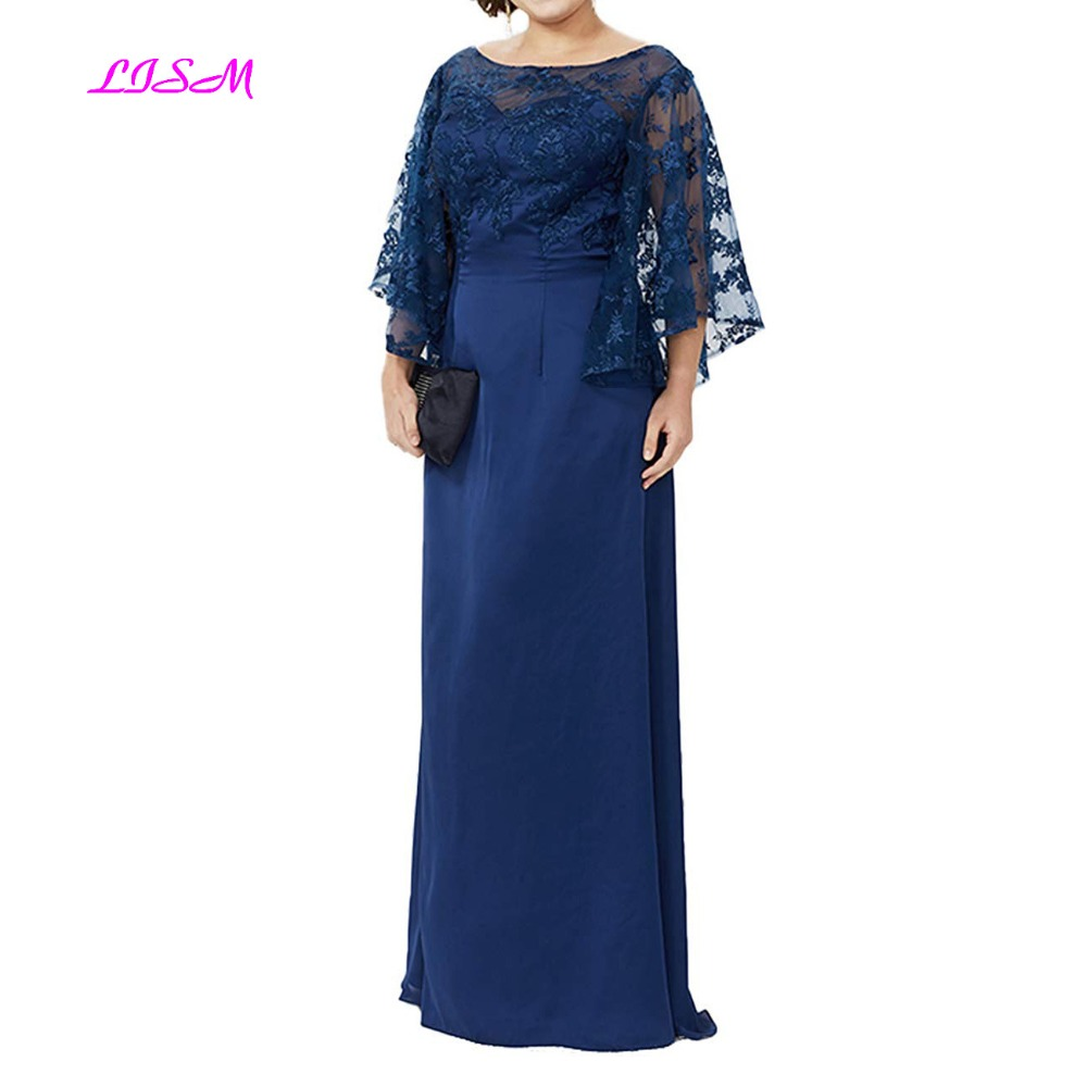 Mère de la mariée robes de grande taille robes de soirée 2019 nouveauté dentelle longue longueur de plancher mère robe
