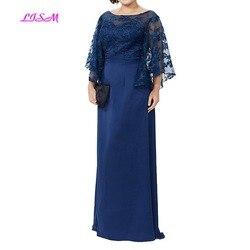 Moeder van De Bruid Jurken Plus Size Avond Formele Gowns 2019 Nieuwe Collectie Lace Lange Floor Lengte Moeder Jurk