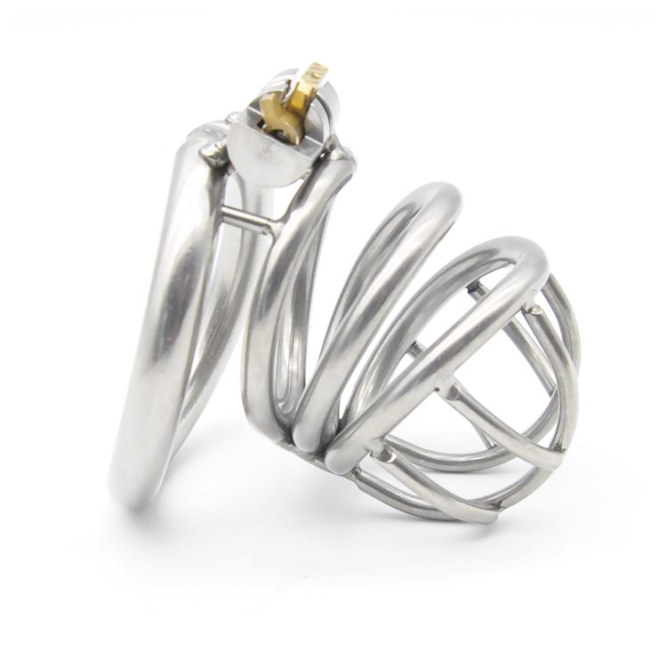 New built-in lock arc ring stainless steel male chastity device cb6000s penis cage sex toys for men chastity devices cock cages stainless steel arc cockring male chastity device penis cage cock ring cages bdsm men sex toys products for man cb6000s