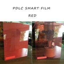 Красный PDLC Переключаемый образец смарт-пленки 210 мм* 297 мм размер для задней проекции экрана фильм питания