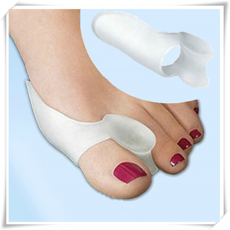 Hot Sale 2pcs/pair Silicone Gel Toe Separators Orthopedic Bunion Correction Hallux Valgus Protector Massage Foot Care Tool #987