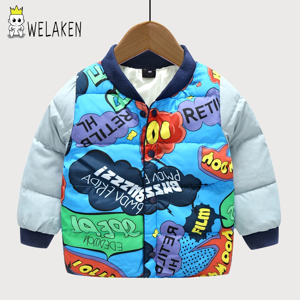 welaken Boys Winter Jackets 2017 New Style Baby Boys Thicken Coats Infant Outerwear Letter Print Kids Warm Outwear Down Parkas пылесос scarlett sc vc80c01 green