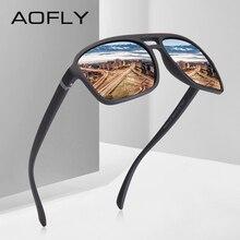 AOFLY Marca Diseño Retro Vintage de los hombres gafas de sol polarizadas conducción HD gafas de sol marco cuadrado gafas UV400 AF8118