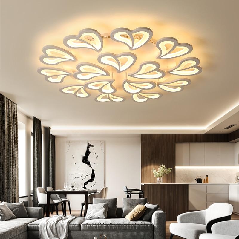 Modern Luster Led Ceiling Lights with Remote Control Ceiling Lamp for Living Room Flush Mount Interior Lighting Bedroom Kitchen цена