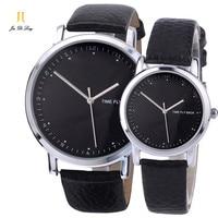 Brand Pair Fashion Classic Lovers' Watch Men&Women's Anti clockwise Quartz Wristwatch Logo Customized For Gift Unisex Watch