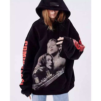 Titanic print Loose Women Men hoodies Sweatshirts Pullover Couples Tracksuits oversize loose hooded hoodies Couples clothing