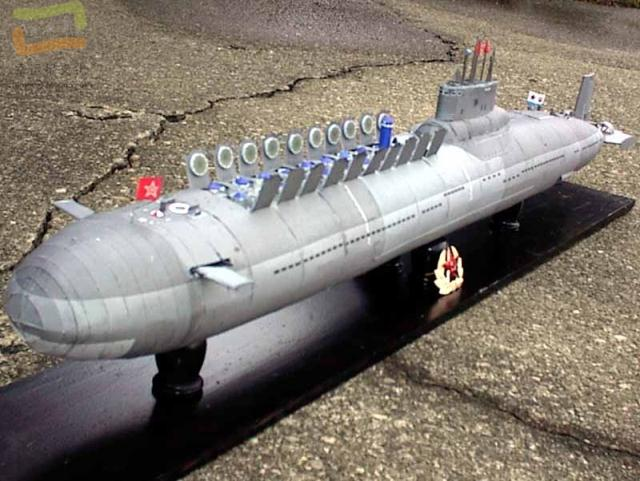 Red October Nuclear Submarine Military Model 3D Paper Model DIY Hand-made Paper Model Model Toy