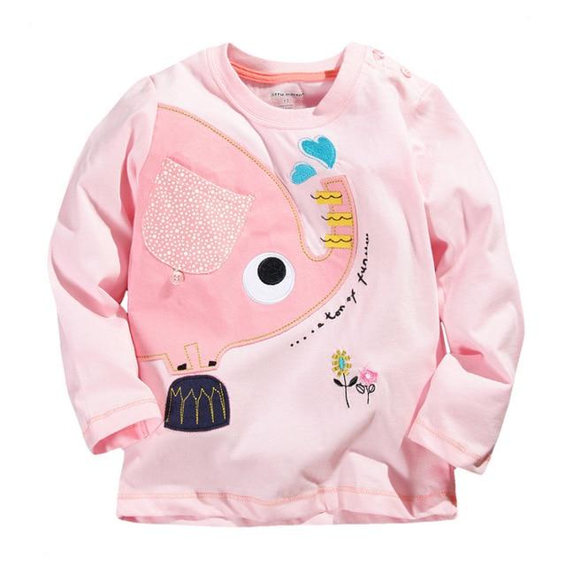 d8b180a91b46 Spring Fall Baby Girls Tops Tees Cute Cartoon Children Clothes ...