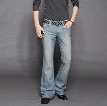 Высокое качество новое поступление 2014 мужская клеш джинсы мужские эластичные тонкие вырезать загрузки брюки 27 — 36 MB16202