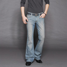 High Quality New arrival 2014 men's bell bottom jeans male elastic slim denim boot cut trousers 27-36 MB16202